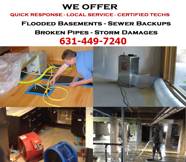 Bellport, New York  Flooded Basement Cleanup Services