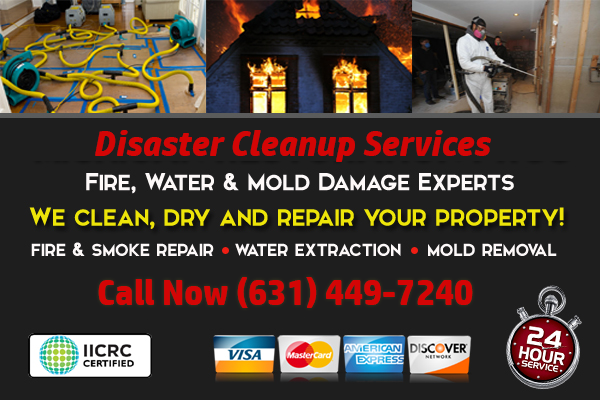 Centereach, New York Water Damage Cleanup Company